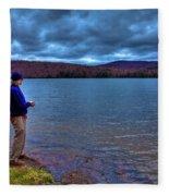 Fishing Limekiln Lake Fleece Blanket