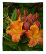 Flame Azalea Fleece Blanket