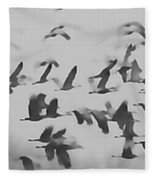 Flight Of The Sandhill Cranes Fleece Blanket