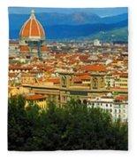 Florence, Italy Panoramic Fleece Blanket