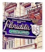 Floridita - Havana Cuba Fleece Blanket