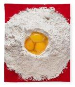 Flour And Eggs Fleece Blanket