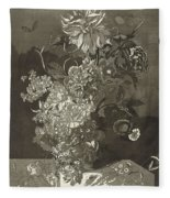 Flower Of The Peony, Cj Crumb, 1700 - 1800 Fleece Blanket