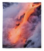 Flowing Pahoehoe Lava Fleece Blanket