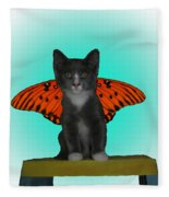 Flying Kitty Fleece Blanket