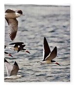 Flying The Inter-coastal - T Fleece Blanket