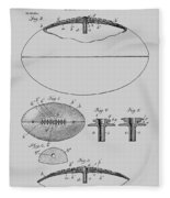 Football Patent Drawing From 1903 Fleece Blanket