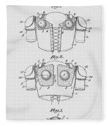 Football Shoulder Pads Patent 1913 Fleece Blanket