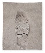 Footprint Fleece Blanket