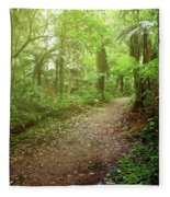 Forest Walking Trail 1 Fleece Blanket