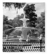 Forsyth Fountain Park Fleece Blanket