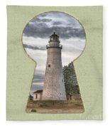 Fort Gratiot Lighthouse Fleece Blanket