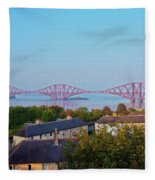 Forth Bridge, Scotland Fleece Blanket