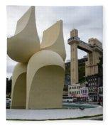 Fountain Of The Market Ramp By Mario Cravo Fleece Blanket