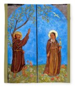 Francis And Claire Triptych Fleece Blanket