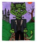Frankenstein Cat Fleece Blanket