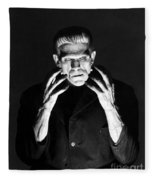 Frankensteins Monster Boris Karloff Fleece Blanket