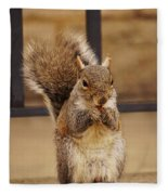 French Fry Eating Squirrel Fleece Blanket