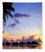 French Polynesia, Huahine Fleece Blanket