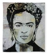 Frida Kahlo Press Fleece Blanket