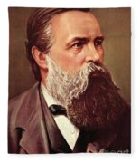Friedrich Engels Fleece Blanket