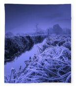 Frosty Field Fleece Blanket