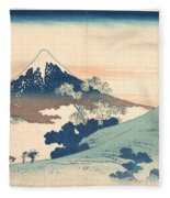 Fuji From Inume Pass Fleece Blanket