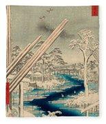 Fukagawa Lumberyards Fleece Blanket
