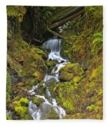 Streaming Through Rainforest Rubble Fleece Blanket