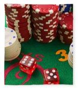 Gambling Dice Fleece Blanket