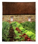 Garden Farm Fleece Blanket