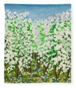 Garden In Blossom Fleece Blanket