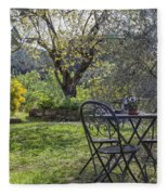 Garden In Spring Fleece Blanket