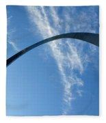 Gateway Arch 4 Fleece Blanket