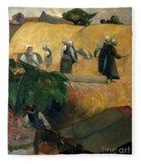 Gauguin: Breton Women Fleece Blanket
