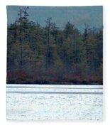 Geese On Labrador Pond Fleece Blanket
