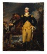 George Washington Before The Battle Of Trenton Fleece Blanket