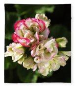 Geranium Flowers Fleece Blanket
