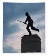 Gettysburg Statue  Fleece Blanket