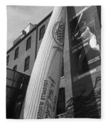Giant Baseball Bat Adorns Fleece Blanket