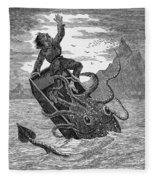 Giant Squid, 1879 Fleece Blanket