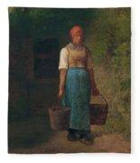 Girl Carrying Water Fleece Blanket