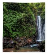Git Git Waterfall - Bali Fleece Blanket