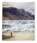 Glacier Lagoon Fleece Blanket