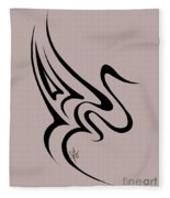 Gliding Swan Fleece Blanket