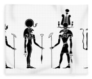 Gods Of Ancient Egypt Fleece Blanket