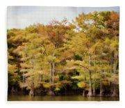 Golden Bayou Fleece Blanket