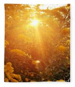 Golden Days Of Autumn Fleece Blanket