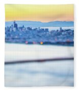Golden Gate Bridge San Francisco California West Coast Sunrise Fleece Blanket