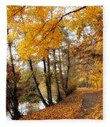 Golden Path Fleece Blanket
